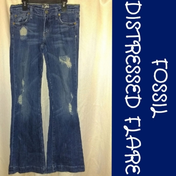 Fossil Denim - *5 for $30* FOSSIL DISTRESSED FLARE JEANS